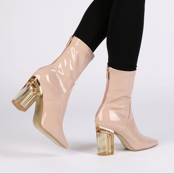 52c0131cd8 Chloe Perspex Heeled Ankle Boots in Nude. M_5b4671842e1478efa6604a08